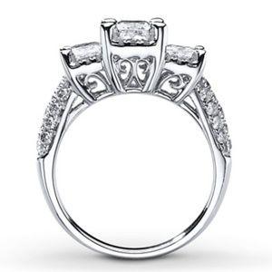 KAY Jewelers 3 Stone Princess Cut Engagement Ring